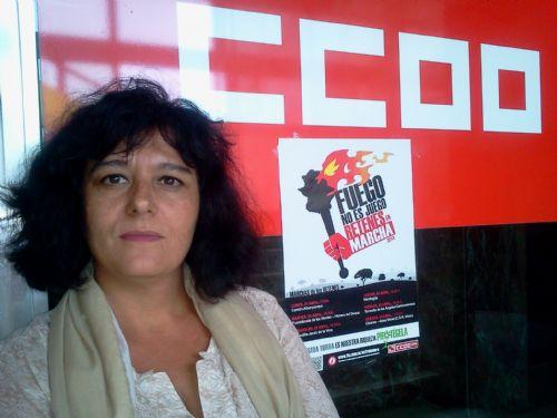 """Chelo Salazar: """"Los bomberos forestales han conseguido que reaccione la Junta de Extremadura"""""""