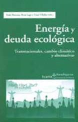 Energía y deuda ecológica