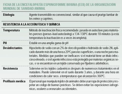 Prevención de riesgos laborales frente a las encefalopatías espongiformes transmisibles