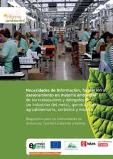 Necesidades de información, formación y asesoramiento en materia ambiental de los trabajadores y delegados de las industrias del metal, química, textil, agroalimentaria, cerámica y madera